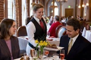Host or server in a restaurant: