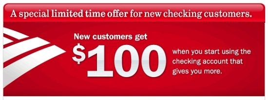 $100 Bonus – Checking Account