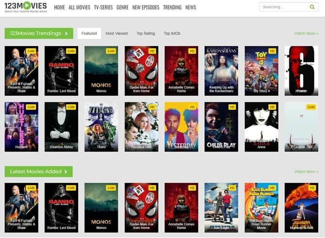 123Movies is one Alternative of putlocker