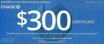 chase $300 bonus