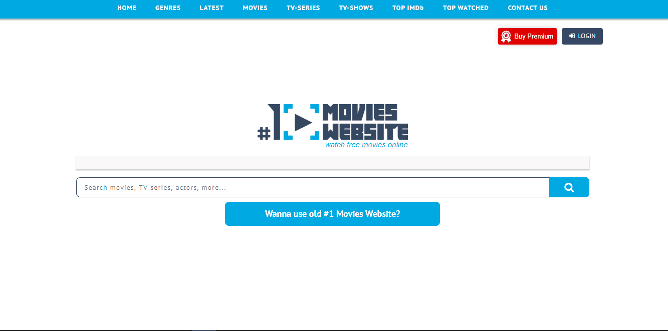 1 Movie Website